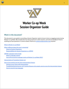 Worker Co-op Week Session Organizer Guide in English Click to open